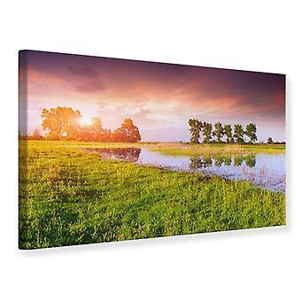 Canvas Print Sunset On Lake