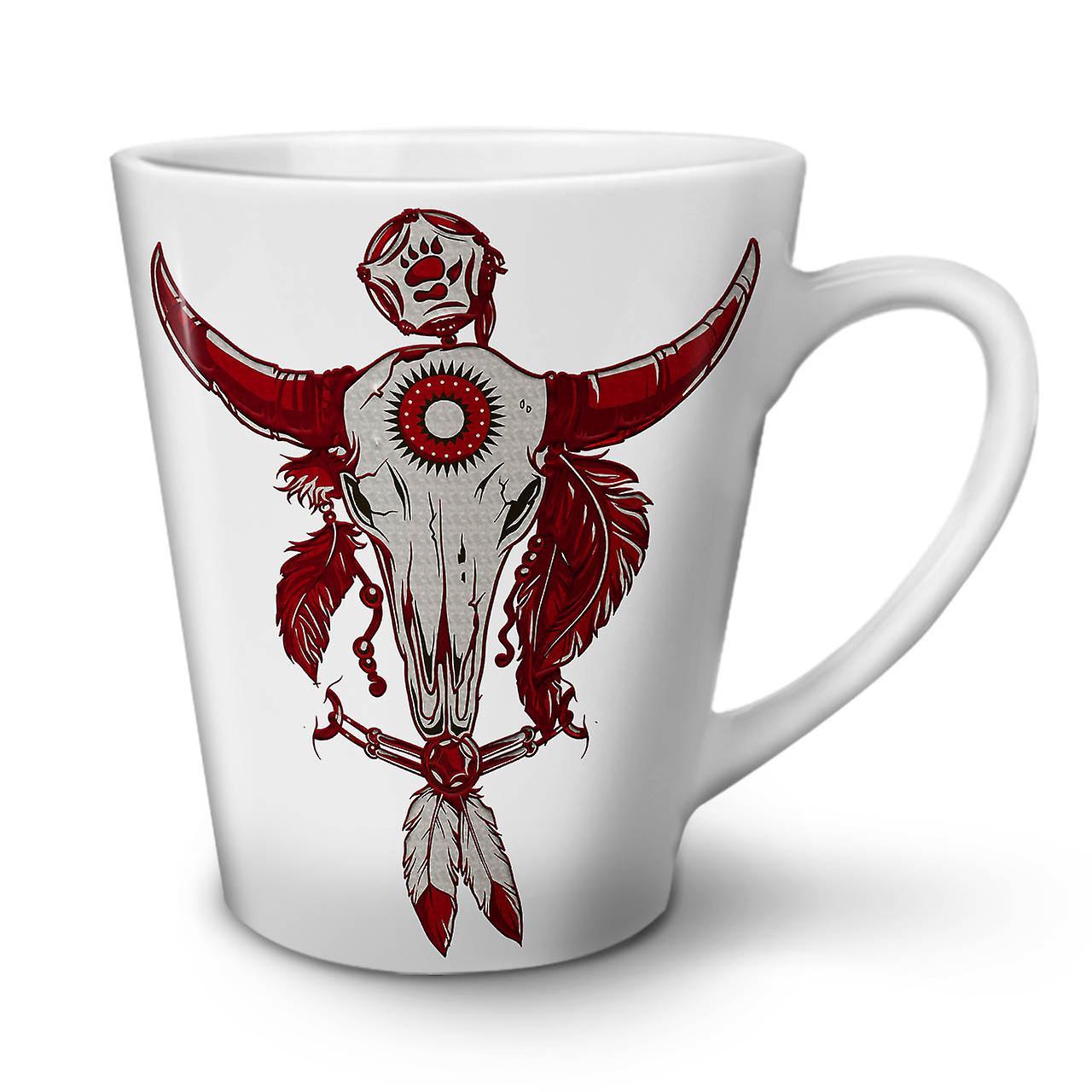 Thé Buffalo En Céramique 12 Blanc Crâne Café Mug Nouveau OzWellcoda Indien Latte fY7bgy6