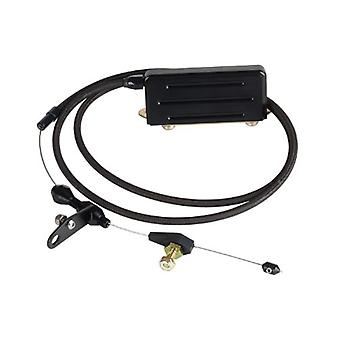 Lokar XKD-2400HT Kickdown Cable Kit with Black Stainless Steel Housing and Black Aluminum Fittings for GM TH-400 Transmi