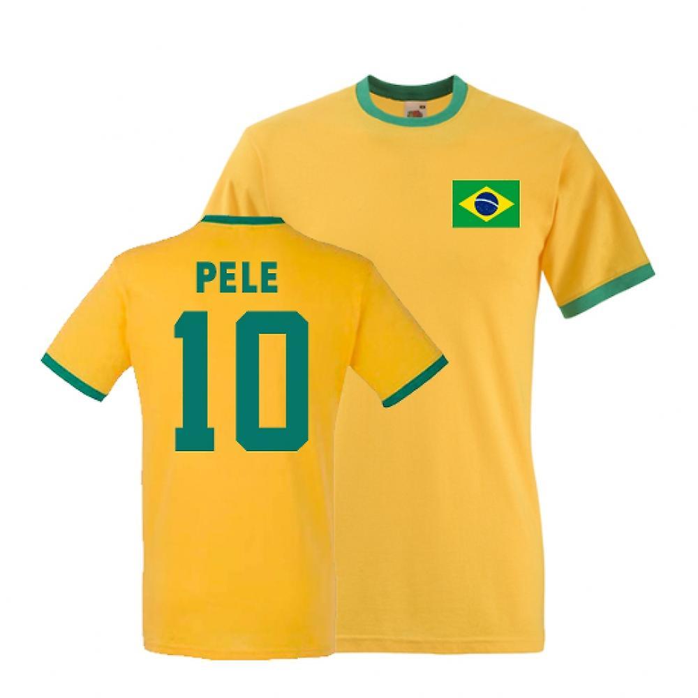 Pele Brasil Ringer Tee (gul)