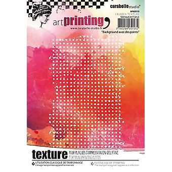 Carabelle Studio Art Printing A6 Rubber Texture Plate-Background With Dots AP60010