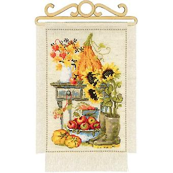 Autumn Cottage Garden Counted Cross Stitch Kit-7.75