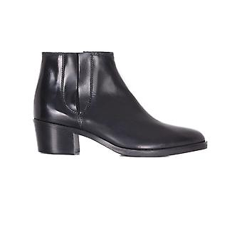 Franca ladies 2121N black leather ankle boots