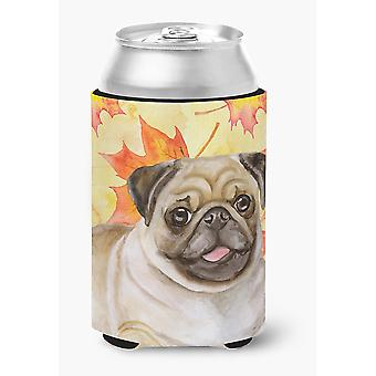 Carolines Treasures  BB9979CC Fawn Pug Fall Can or Bottle Hugger