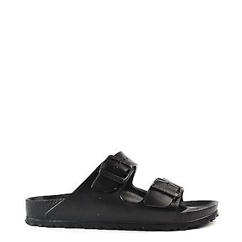 Birkenstock Arizona Black Rubber Two Strap Sandal