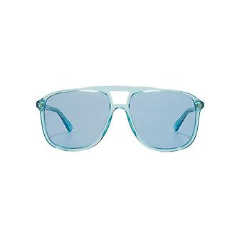 Gucci Flat Top Pilot Sunglasses In Light Blue