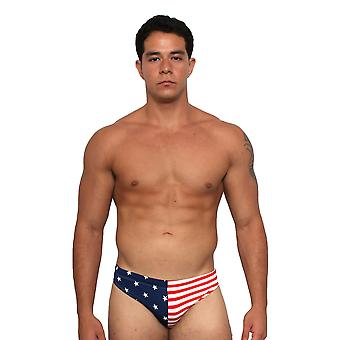 Men's USA Flag Bikini Swimwear