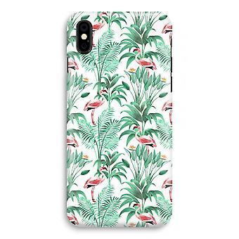 iPhonegeval X volledige Print - Flamingo bladeren