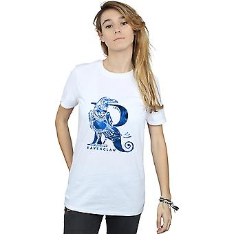 Harry Potter Women's Ravenclaw Raven Boyfriend Fit T-Shirt