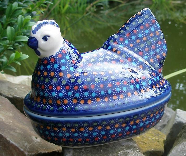 Huhn als Eierwärmer, 2. Wahl, 17 x 11 cm, 14 cm hoch, Unikat 106, BSN m-3872