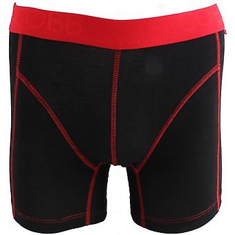 Alexander COBB Ideal Long Boxers - Black/Red