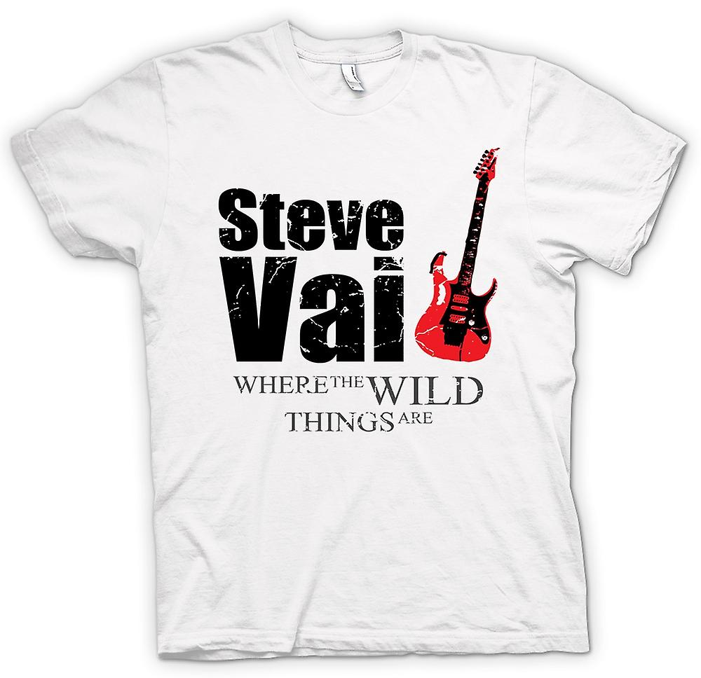 T-shirt des hommes - Steve Vai Wild Things - Guitar Legend
