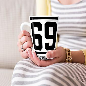 69 favoriete nummer grappige nieuwe witte thee koffie keramische Latte Mok 17 oz | Wellcoda