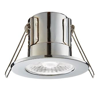 Saxby Lighting Shield Eco 500 IP65 4W 4000K Dimmable LED Downlight In Chrome