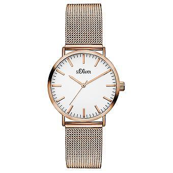 s.Oliver women's watch wristwatch stainless steel SO-3272-MQ