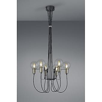 Trio Lighting Nacho Modern Black Matt Metal Ceiling Lamp