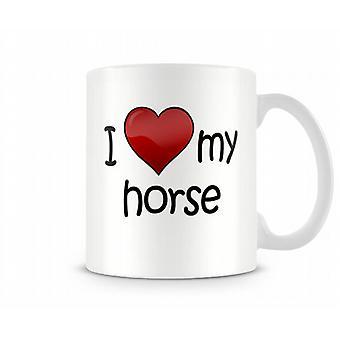 Amo la mia tazza stampata di cavallo