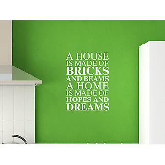 A house is made of Wall Art Sticker - White