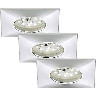 LED bathroom recessed light 3-piece set 15 W Warm white Briloner 7205-038 Chrome