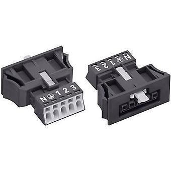 Mains connector WINSTA MINI Series (mains connectors) WINSTA MINI Socket, straight Total number of pins: 4 + PE 16 A Black WAGO 1 pc(s)