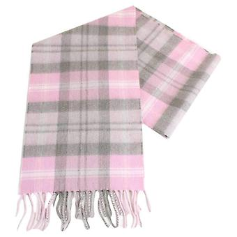 Locharron of Scotland Baird Cashmere Scarf - Pink/Grey