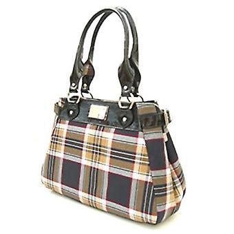 Tartan Handbag M (Stewart Navy)