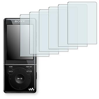 Sony NWZ-E575 display protector - Golebo Semimatt protector (deliberately smaller than the display, as this is arched)