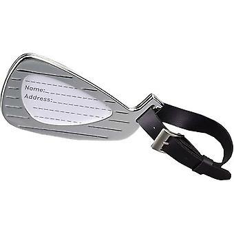 David Van Hagen Silver Plated Golfclub bagagelabel - zilver/zwart