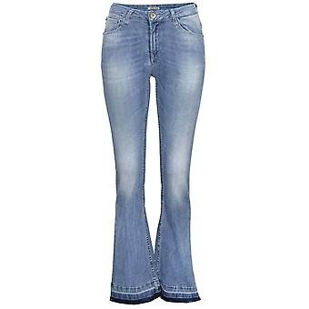GARCIA JEANS Washed-Out women of jeans into the worn look blue
