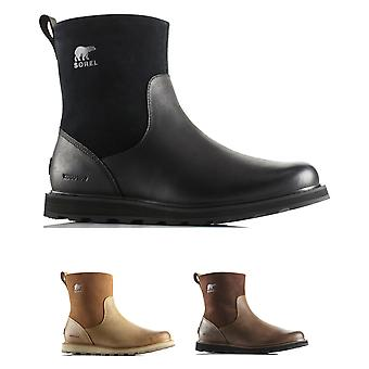 Mens Sorel Madson Zip Waterproof Winter Snow Leather Hiking Ankle Boots