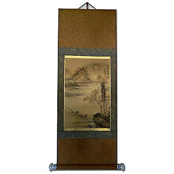Asia painting on rice paper, 97x36 cm landscape