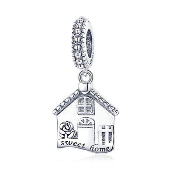 Sterling silver pendant charm Sweet home