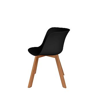 Bowl Chair Chair Chairs Kitchen Chair Dining Room Chair Scandi Black 4Er Set