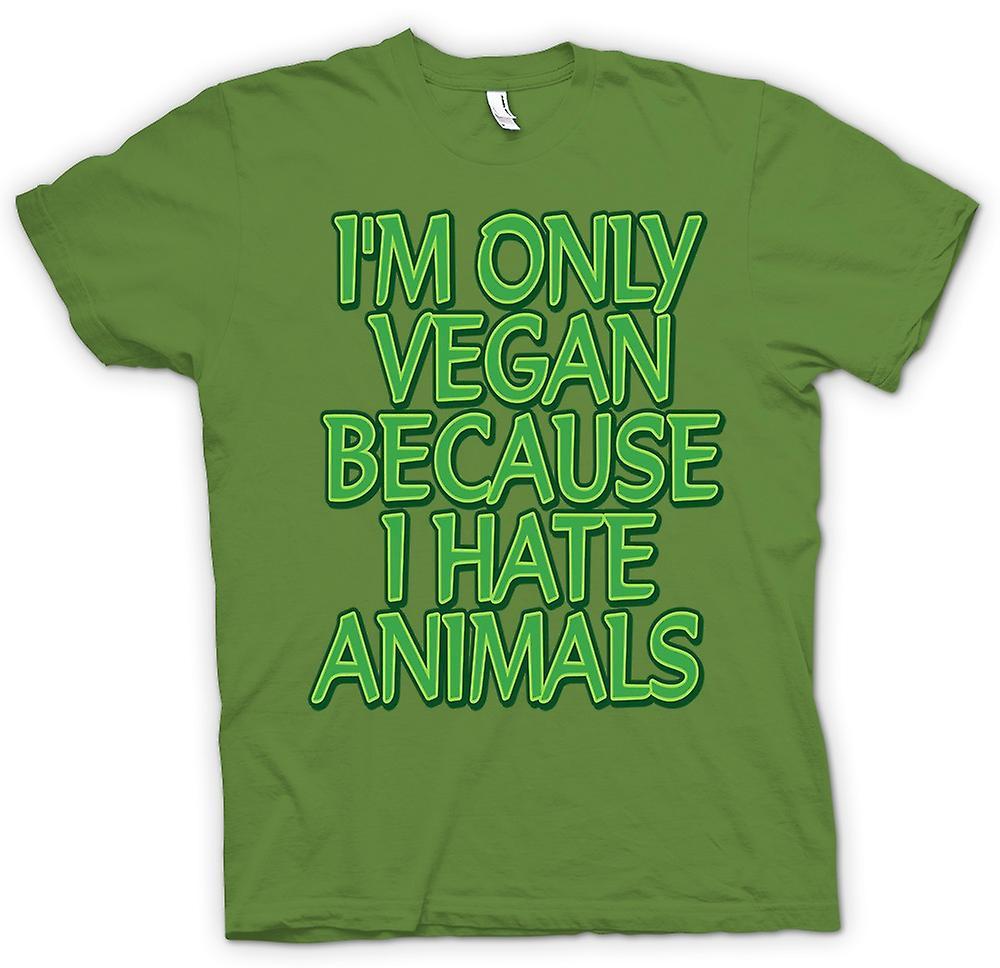 Mens t-shirt - sono solo Vegan perché io odio gli animali