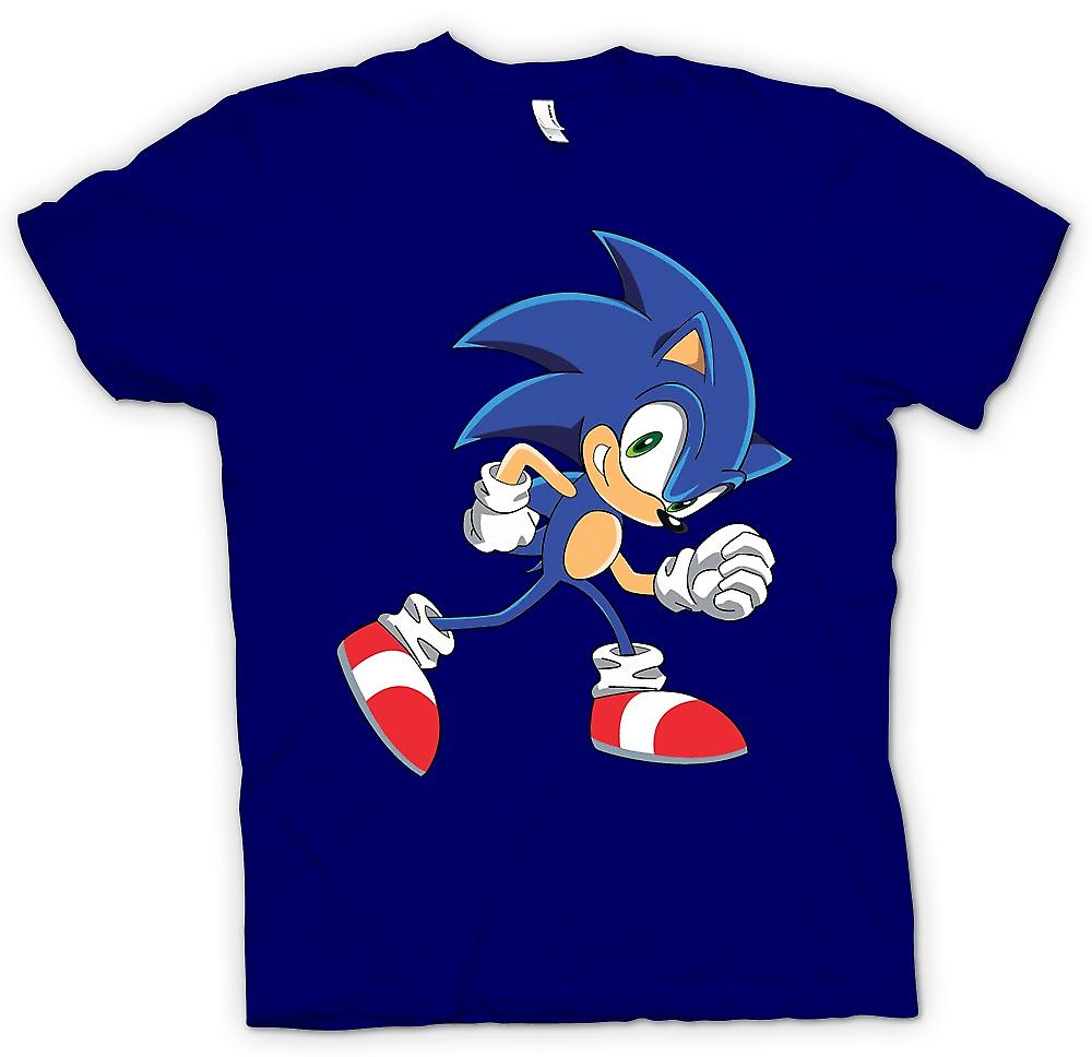 Mens T-shirt - Run Sonic - Sonic der Hegehog