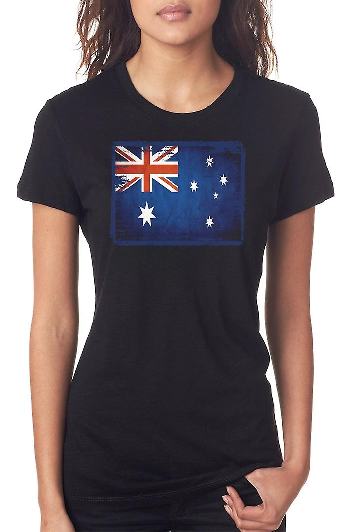 Australia Australia Grunge Flag Ladies T Shirt