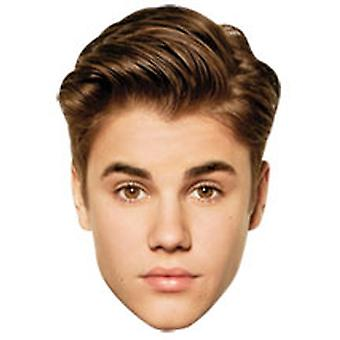 Justin Bieber Card-Gesichtsmaske