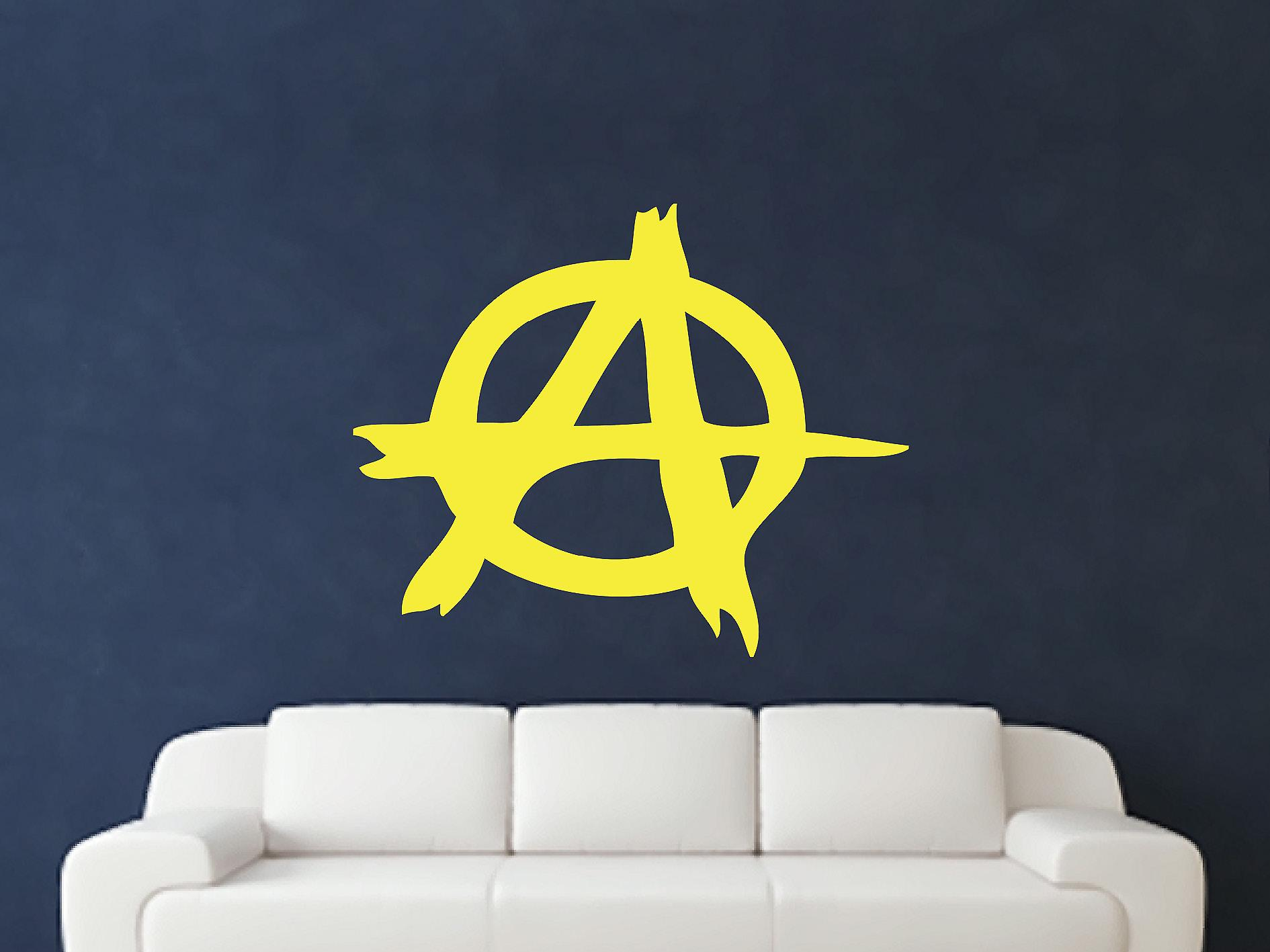 Anarchy Symbol Wall Art Sticker - Sulphur