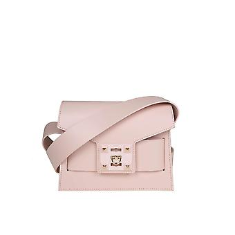 Salar Pink Leather Shoulder Bag