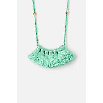 Orelia Jewellery Long Bead Tassle Fan Necklace