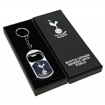 Tottenham Hotspur nyckelring ficklampa flasköppnare