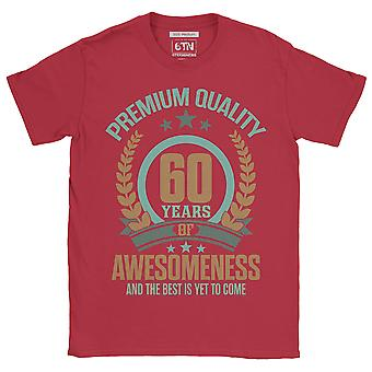 60 years of awesome and the best is yet to come 60th birthday t shirt