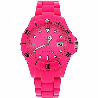 Unisex LTD Adult Analogue Hot Pink Plastic Strap Watch - Limited Edition