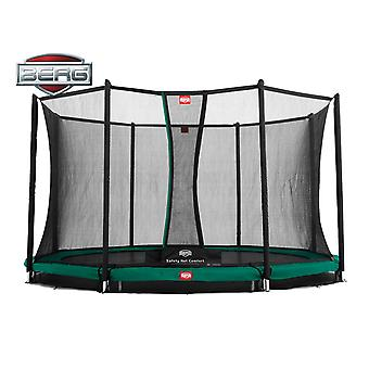 BERG InGround Champion 330 11ft Trampoline+ Safety Net Comfort Green