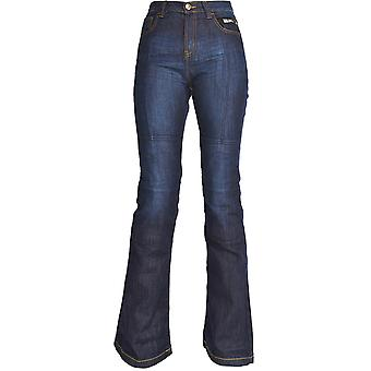 Oxford Blue Aramid SP-J2-Short Womens Motorcycle Jeans