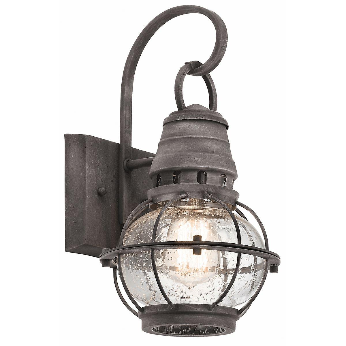 Elstead - 1 Light Small Wall Lantern - Zinc Finish - KL BRIDGEPOINT S