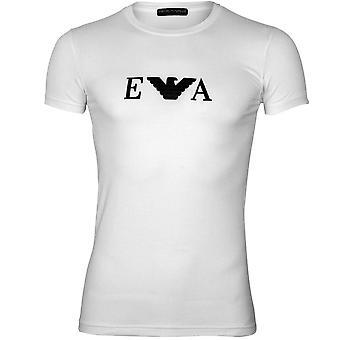 Emporio Armani EA Eagle Logo Crew-Neck T-Shirt, White
