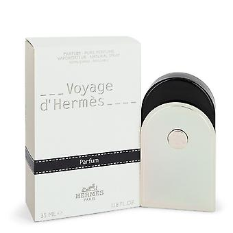 Voyage D'Hermes by Hermes Pure Perfume Spray Refillable  (Unisex) 1.18 oz / 35 ml (Women)