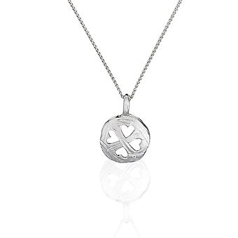 PENDANT WITH CHAIN  HEARTS 925 SILVER ZIRCONIUM