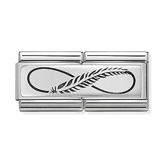 Nomination Classic Feather Infinity Steel, Enamel and 925 Silver Link Charm 330710/12